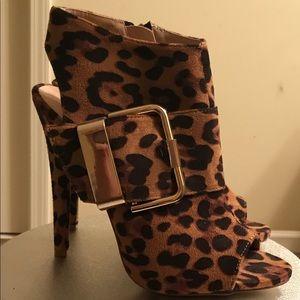 Fabulous leopard print booties